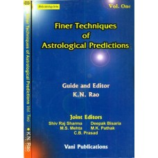 Finer Techniques of Astrological Predictions 2 Vol By KN Rao in English